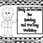 Daily Activities for Reading and Writing Posters and activ