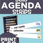 Daily Agenda Strips