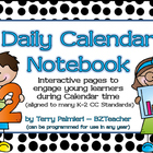 Daily Calendar Notebook for Primary