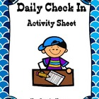 Daily Check In Feelings/Emotions Activity Sheet