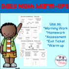 Daily Common Core Math Warm-Up
