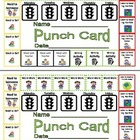 Daily Five (5) Centers Managed Independent Learing Punch Card