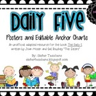 Daily Five Posters and Editable Anchor Charts *Polka Dots*