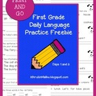 Daily Language Practice-Common Core Aligned- Morning Work-Freebie