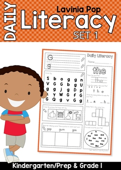 Daily Literacy Morning Work (Sight Words / Beginning Sounds / Reading)