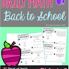 Daily Math 1 (Back to School) Fourth Grade