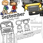 Daily Math Booklet {September}