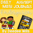 Daily Math Journals for August and September