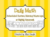 Daily Math for 2nd or 3rd Grade: November Edition