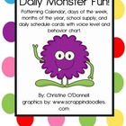 Daily Monster Fun: Patterning Calendar, Classroom Rules & decor