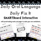 Daily Oral Language Daily Fix It Interactive SMARTBoard