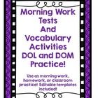 Daily Oral Language, Daily Math, and Vocabulary all in one!