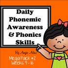Daily Phonemic Awareness and Phonics Skills Mega Pack #2 (