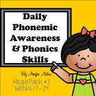 Daily Phonemic Awareness and Phonics Skills Mega Pack #3 (
