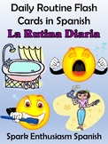 Daily Routine (La Rutina Diaria) Flash Cards in Spanish (82)!