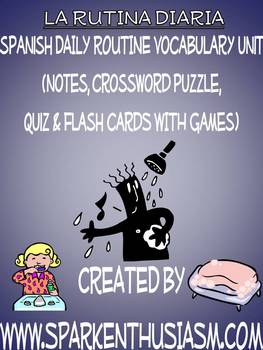 Daily Routine Vocabulary, Activities, Crossword, Games, &
