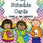 Daily Schedule Cards- Multicolored Chevron