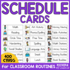 Daily Schedule Cards - PreK, Kdg, 1st