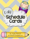 Daily Schedule Cards: Yellow & Gray