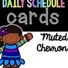 Daily Schedule Cards--Muted Chevron