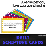 Daily Scripture Cards for Teachers: A verse a day to encou