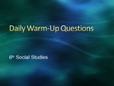 Daily Warm-Ups, Review Game, Social Studies, World Geograp