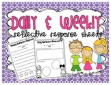Daily & Weekly Reflective Response Sheets