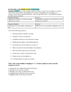 Correcting Misplaced and Dangling Modifiers - PDF documents 7th ...