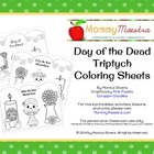 Day of the Dead - Día de los Muertos - Triptych Coloring Pages