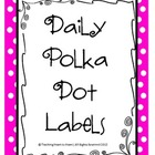 Days of the Week Polka Dot Labels