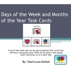 Days and Months Task Cards