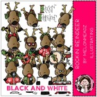 DeAnne's Rocking Reindeer bundle by melonheadz black and white