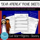 Dear America Movie Worksheets (Pilgrims/Indians, Civil War