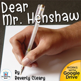 Dear Mr. Henshaw Teaching Novel Study Unit