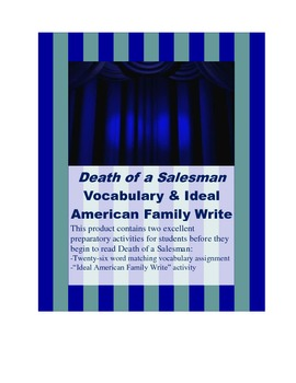 Death of a Salesman Vocabulary Assignment (w/ key) & Ideal