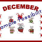 December Bulletin Board Cut-outs and Letters (Theme: Chris