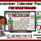December Math and Calendar Pack for Smartboard