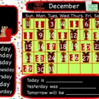 December Christmas Interactive Flipchart Calendar for Prom