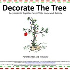 Christmas Tree Do Together Parent/Child Homework Activity