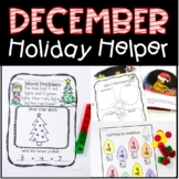 December Holiday Helper For Kindergarten Just Print, No Pr
