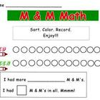 December Holiday M & M Math Sort