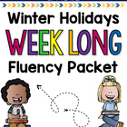 December Holidays Weeklong Fluency Packet