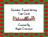 December Journal Writing Task Cards