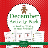 December Literacy and Math Pack - 17 Centers and Activitie