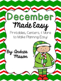 December Made Easy!  Printables, Centers, and More to Make