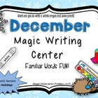"December ""Magic Writing"" Activities Non-Holiday"