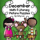 December Math & Literacy Picture Puzzles