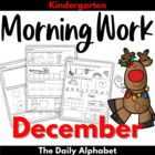 December Morning Work ~ Kindergarten