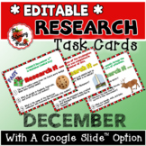 December Research Task Cards