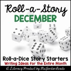 {December} Roll-a-Story Writing Activity
